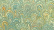 ITALIAN MARBLE - Peacock pattern - Turquoise Yellow