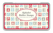 Cavallini Rubber Stamps Alphabet (Blocks), Assorted with Ink Pad