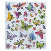 Multi-Coloured Stickers-Butterflies In Flight
