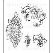 Heartfelt Creations Rubber Stamps - Tattered Blossom Swirl