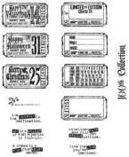 New - Tim Holtz Large Cling Rubber Stamp Set - Odds & Ends by Stampers Anonymous