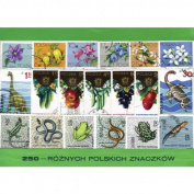 Polish Collectible Postmarked Stamp Sets - 250 Mixed Poland