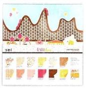 SEI A Fair Day 30cm x 30cm Papers Assortment Pack & Sticker Sheet Alphabet 24 Sheets 12 Designs NEW