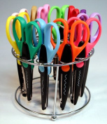 12 Paper Edger Scissors with Organiser Stand! Great for Teachers, Crafts, Scrapbooking & More!