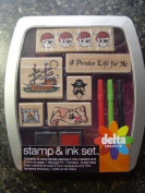 Pirate Rubber Stamp & Ink Set