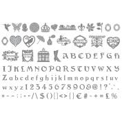 Sizzix eclips Cartridge Romantic & Heart Nouveau Alphabet