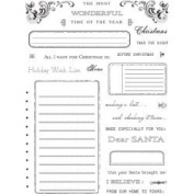 Holiday Wish List Clear Unmounted Rubber Stamp Set
