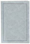 Cardboard Photo Folder for a 5x7 Photo (Pack 0f 100) Light Grey