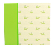 Hom Essence 0395 30cm by 30cm Post Bound Scrapbook, Fabric with Whale Icon and Faux Leather Accents