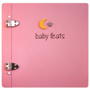 Jack Scrapbook Baby Feats Scrapbook Journal Memory Book - Pink