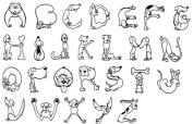 Dog Rubber Stamp - Dog Alphabet Set