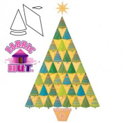 AccuQuilt GO! Fabric Cutting Dies, Sparkle Jumbo Tree by Sarah Vedeler 173210