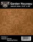 Faux Like a Pro Garden Nouveau Wallpaper Stencil, 50cm by 70cm , Single Overlay