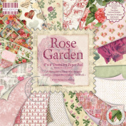 Premium Paper Pad 20cm x 20cm 48/Sheets-Rose Garden