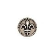 Ancient Rome Button 1.6cm Antique Silver Finish Metal