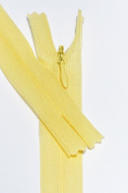 18cm Invisible Beulon Yellow Lightweight Closed End Zipper By Each