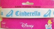 Disney Cinderella Elastic White w Blue 2.5cm Wrights