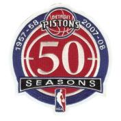 Detroit Pistons 50th Anniversary Logo Patch