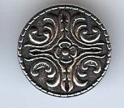 Bjorg Middels Button - Solid Pewter