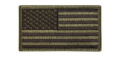 Olive Green USA Flag Patch Loop Backing