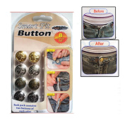 Smart Fit Buttons No Sew Adjust Waist Jeans Jacket Tshirt Tack Crafts Nosew 8 Pc