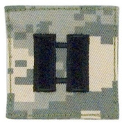 Acu Digital Camouflage Captain Insignia hook and loop Backed Patch