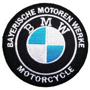 Bmw patches 7.5x7.5 cm Motorcycle biker patches racing patchLogo car patch sew/iron on patch