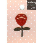 Red Rose Design Small Iron-on Applique