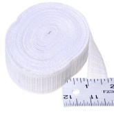 Elastic ~ Non-roll Elastic 1.9cm ~ White ~ By Yard
