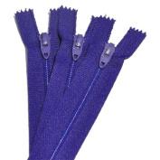 18cm Zipper TALON Nylon Coil Zippers ~ Closed Bottom ~ 069 PURPLE