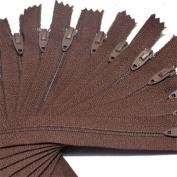 18cm Zipper TALON Nylon Coil Zippers ~ Closed Bottom ~ 119 RUSTY GRAPE