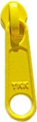 Zipper Pull Replacements ~ YKK Handbag Slider #4.5 Coil Long Pull N/L Slider ~ Bright Yellow