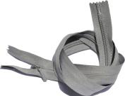 60cm Unique Invisible Zipper YKK #3 Conceal Heavy Duty Closed End - Medium Grey