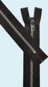 28cm Pants Aluminium Zipper ~ Talon #4.5 with Locking Slider - Seal Brown