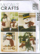 McCall's Crafts, #2388 - Snowman Christmas [cardholder, stocking, ornament, snowmen]