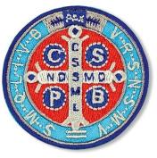 Embroidered Saint St Benedict Stole Vestment Catholic Sticker Applique 7.6cm Patch