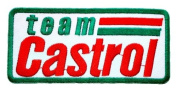 CASTROL Team Lubricant Gas Oil MotoGP F1 Racing Shirt GC04 Iron on Patches