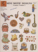 Mini Motif Designs Counted Cross Stitch Leaflet Country Volume 2