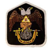 Masonic Scottish Rite 32nd Degree embroidered Patch