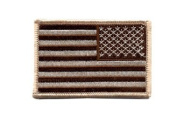18888 Desert Tan Reversed US Flag Patch