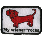 Old Glory - Unisex-adult My Wiener Rocks Patch White