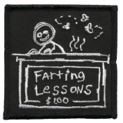 Old Glory - Unisex-adult Farting Lesson Patch Black
