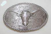 Brand:e & b Western Cattle Skull Bull Horns Belt Buckle Wt-015as