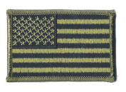 Subdued US Flag Embroidered Iron On Patch