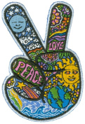 Dan Morris - Celestial Peace Hand Fingers - Embroidered Patch