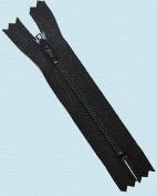 8.9cm Doll Zipper YKK #3 Nylon Coil Zippers ~ Closed Bottom ~ 580 Black