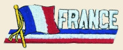 France Logo Embroidered Iron on or Sew on Patch