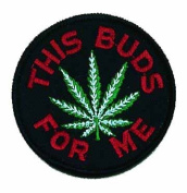 This Buds for Me Logo Embroidered Iron on or Sew on Patch