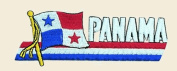 Panama Logo Embroidered Iron on or Sew on Patch