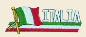 Italia Logo Embroidered Iron on or Sew on Patch